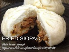 Toasted (Baked) Siopao and Fried Siopao http://www.panlasangpinoymeatrecipes.com/toasted-baked-siopao-fried-siopao.htm #ToastedSiopao #BakedSiopao #FriedSiopao