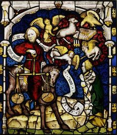Panel from the Great East Window at York Minster in the UK, after restoration. Medieval Stained Glass, Stained Glass Church, Stained Glass Panels, York Minster, Church Windows, Catholic Art, Renaissance Art, Types Of Art, Coat Of Arms