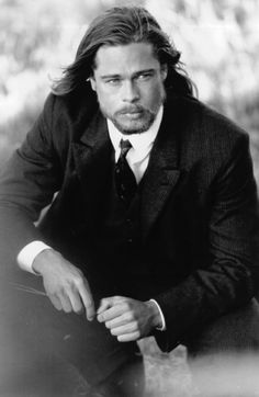 Brad Pitt in Legends of the Fall// I remember being at the movie theater and as Brad rode his horse over the hill with his long hair flowing, all of the women in the place gasped aloud simultaneously! hahaha!