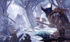 League of Legends DigiArt Contest: Olaf by Somnicide.deviantart.com on @DeviantArt