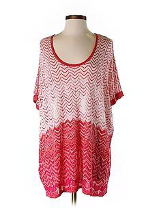 BCBGMAXAZRIA Women Short Sleeve Silk Top Size 0S