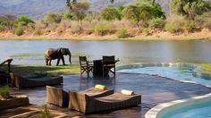 Piscina do Chongwe River House (Zâmbia)