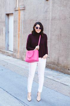 burgundy + blush + hot pink