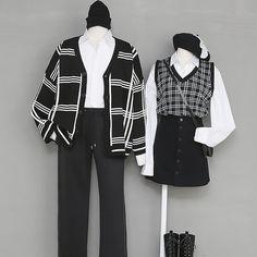 ファッション₊♡ uploaded by °☪Ky-fi°︎⋆ on We Heart It Fashion Couple, Cute Fashion, Fashion Outfits, Ulzzang Fashion, Korean Fashion, Best Friend Outfits, Matching Couple Outfits, Mode Chic, Mode Streetwear
