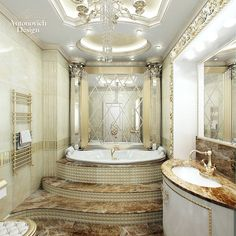 Antonovich Design Luxury   looks royal and luxury this luxury is emphasized with mirror beveled ...