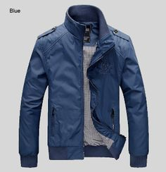 Mens Jacket with High Collar