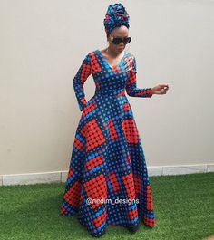 African Print Dresses Nedim Osmanovic designs by laviye Long African Dresses, Latest African Fashion Dresses, African Print Dresses, African Print Fashion, Africa Fashion, African Prints, Ankara Fashion, African Fabric, African Dress Styles