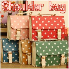 $9.99 Lady Polka Dot College Satchel Messenger Briefcase Shoulder Bag Handbag Tote New | eBay