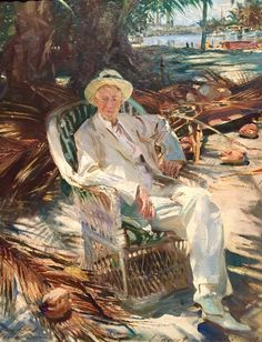 Portrait of Charles Deering. John Singer Sargent. 1917.  After a forty year friendship with Deering, Sargent painted this wonderful portrait at the art patron's Miami home, Brickell Point.