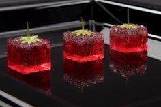 Molecular Square Strawberries