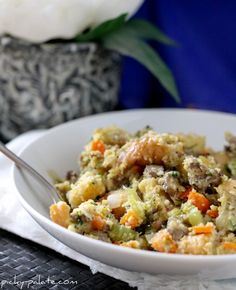 The Best Stuffing Ever…Sourdough Cornbread and Sausage Stuffing.  A must make this Thanksgiving!