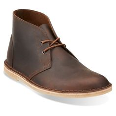 Clarks Originals 'Jink' Desert Boot (5,320 PHP) ❤ liked on Polyvore featuring men's fashion, men's shoes, men's boots, beeswax leather, mens fur lined boots, mens chukka boots, mens leather shoes, mens shoes and mens leather desert boots
