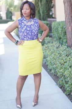gorgeous green pencil skirt by @eelgr8fashion