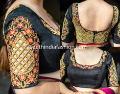 7 Beautiful Maggam Work Blouse Designs by House Of Blouse – South India Fashio. 7 Beautiful Maggam Work Blouse Designs by House Of Blouse – South India Fashio. Cutwork Blouse Designs, Fancy Blouse Designs, Bridal Blouse Designs, Blouse Neck Designs, Shirt Designs, Cut Work Blouse, South Indian Blouse Designs, House Of Blouse, Maggam Work Designs