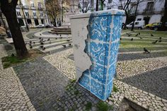Portuguese Street Artist Decorates Electrical Box with Ornate Tile Patterns - My Modern Met