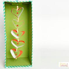 Lovely hearts diy Valentinstag Herz Girlande muttertag Herzen aus Klopapierrollen, Recycling, Papier, Rolle, Herz, Grüße, Geburtstag