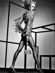 Karlie Kloss by Craig McDean for W Magazine April 2012 as 'Drama Queen'