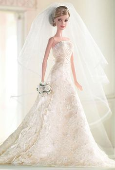 Looking for the Carolina Herrera Bride Barbie Doll? Immerse yourself in Barbie history by visiting the official Barbie Signature Gallery today! Barbie Bridal, Barbie Wedding Dress, Wedding Doll, Barbie Dress, Barbie Clothes, Barbie Gowns, Wedding Set, Chic Wedding, Carolina Herrera