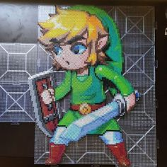 LoZ Link perler beads by dazer24
