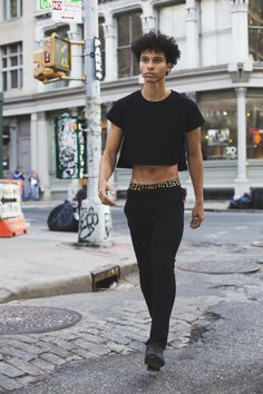 jewelrynfashion:  == Black Fashion == Pas Le Mode shirt, Versace Underwear, Saint Laurent Boots Yunis… via Tumblr