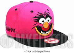 Animal Cabesa Punch Fuschia Pink Jet Black The Muppets New Era Snapback