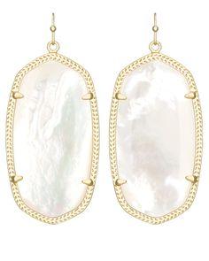 Danielle Earrings in Ivory Pearl - Kendra Scott Jewelry