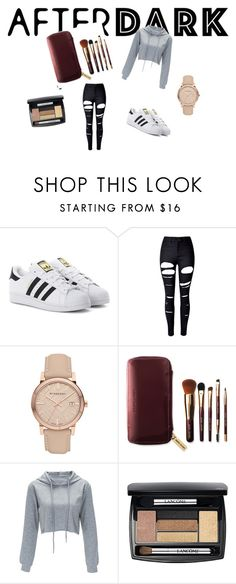 """Hispter"" by explorer-14743076013 ❤ liked on Polyvore featuring adidas Originals, WithChic, Burberry, Bobbi Brown Cosmetics and Lancôme"