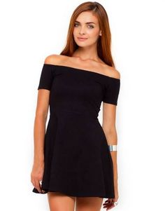 Awesome Off the shoulder black dresses 2018-2019 Check more at http://bestclotheshop.com/dresses-review/off-the-shoulder-black-dresses-2018-2019/