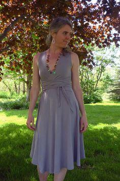 Organic Clothing  Eco Dress  Wrap Style Organic by woolenmoss