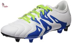 adidas X 15.3 FG/AG Leather, Chaussures de Football Homme, Blanc / Vert / Noir (Ftwbla / Seliso / Negbas), 40 EU - Chaussures adidas (*Partner-Link)