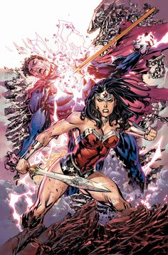 Superman and Wonder Woman by Ken Lashley