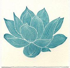 Craved lotus stamp by Geninne