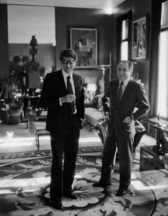 At home with Yves Saint Laurent and Pierre Berge: A look into their former homes in Paris and Normandy, in France.