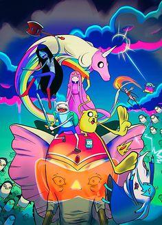 Tags: Adventure Time, Finn, Jake, Princess Bubblegum, Marceline, Lady Rainicorn, Ancient Psychic Tandem War Elephant