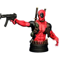 Gentle Giant Deadpool 7.25 Inch Mini Bust Limited Edition Figure (black / red) 871810009022 - $89.99