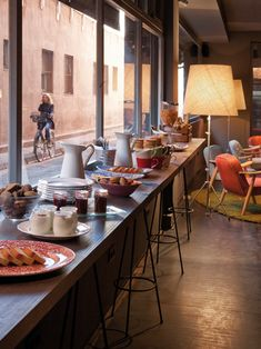 Chic & Basic Ramblas Hotel, designed last year by Barcelona-based La Grangja Design. The firm created an experience around the '60s in Spain, matching the building's 60's vibe. With 97 rooms on six floors, the design is crisp and fresh, no-nonsense and comfortable.