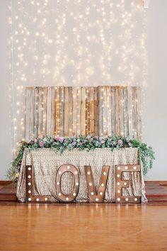 Pastel and Gold Pretoria Wedding Backdrop