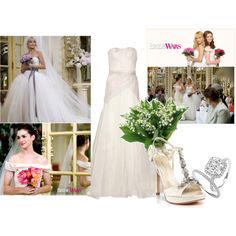 Bride Wars by kiza on Polyvore featuring Lela Rose, Ivanka Trump, Bellagio, anne hathaway, wedding, kate hudson and movies