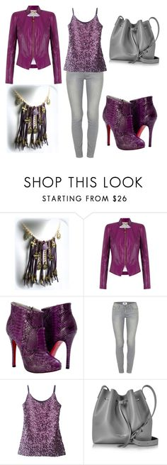 """Shades of Purple"" by eponascrystals ❤ liked on Polyvore featuring Tufi Duek, Paolo Shoes, Paige Denim and Lancaster"