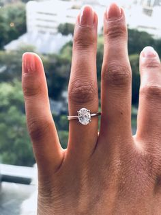 I'm so I love with my engagement ring, my fiancé did an amazing job picking out a ring that I will cherish forever. #ovaldiamond #ring #engagementring