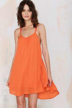 Romy Tank Dress - Orange