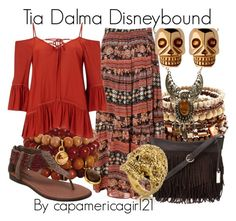 """Tia Dalma Disneybound"" by capamericagirl21 ❤ liked on Polyvore featuring Mudd, Alice & You, Miss Selfridge, Urban Originals, Minnetonka, Wet Seal and Links of London"