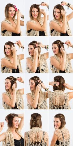 This knotted style is perfect for short hair.
