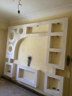 House Ceiling Design, Bedroom False Ceiling Design, Wall Decor Design, Living Room Tv Unit Designs, Wall Unit Designs, Interior Design Living Room, Modern Tv Wall Units, Plafond Design, Tv Wall Decor
