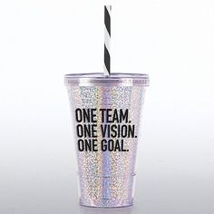 glitter tumbler one team one vision one goal employee appreciation giftsemployee