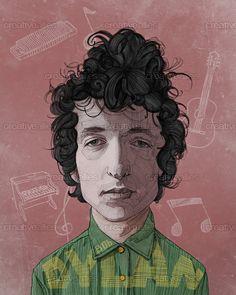 Bob Dylan Poster by StDamos on CreativeAllies.com