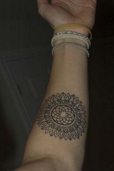 Mandala inspired sunflower by Jamie at Fantality Tattoo, Peterborough, Ontario. Yoga Tattoos, Time Tattoos, Body Art Tattoos, Tattoo Drawings, New Tattoos, I Tattoo, Tattoo Blog, Tatoos, Texas Tattoos