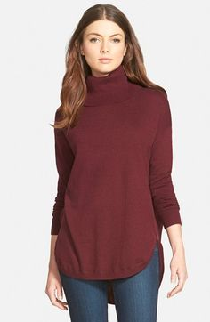 Free shipping and returns on Chelsea28 Turtleneck Sweater at Nordstrom.com. A touch of cashmere and a curvedhigh/low hem turn this drapey turtleneck sweater into a stunning cold-weather essential that easily pairs with streamlined bottoms.