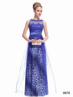 ゴージャスでワイルドなブルー系ロングドレス♪ - ロングドレス・パーティードレスはGN 演奏会や結婚式に大活躍!