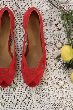 Chaussures Paquita Rouge